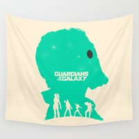 guardians Wall Tapestries featuring Guardians of the Galaxy by FelixT