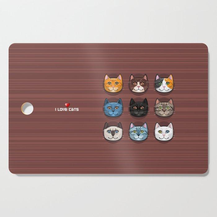 I love cats Cutting Board