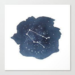 gemini constellation zodiac Canvas Print