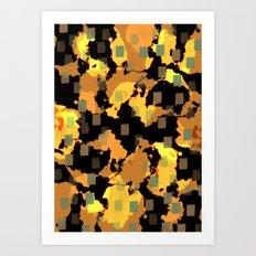 27 blue dots Art Print