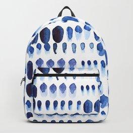 Indigo Watercolour Paint Splodges Backpack