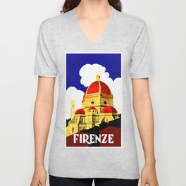 Firenze - Florence Italy Travel Unisex V-Neck