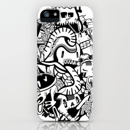 Adventure history of crazy monsters. iPhone Case
