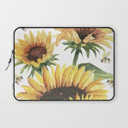 Sunflowers and Honey Bees Laptop Sleeve