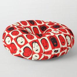 Noh, Ephemera (from Studio Glmn archives) Floor Pillow