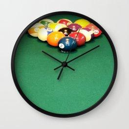 Billiard Balls Racked Wall Clock