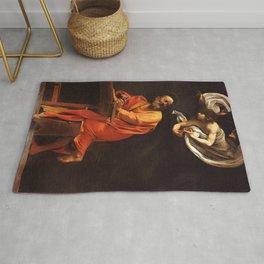 Michelangelo Merisi da Caravaggio - The Inspiration of Saint Matthew Rug