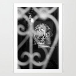 Courtyard Ghost Art Print