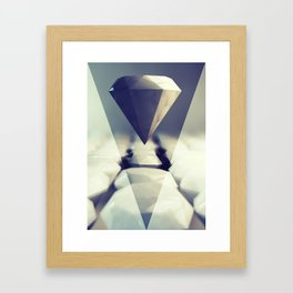 Diamond Rise Framed Art Print
