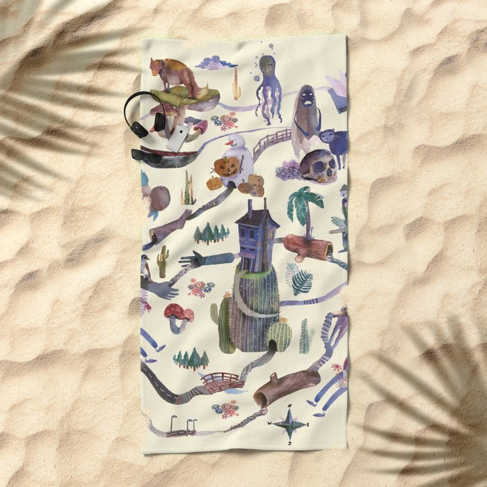 the MAP Beach Towel