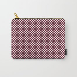 Garnet and White Polka Dots Carry-All Pouch