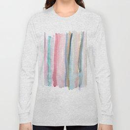 Watercolor stripe Long Sleeve T-shirt