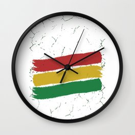 Jah bless Rasta Wall Clock