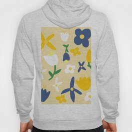 Yellow and Blue Daisy May Pattern Hoody