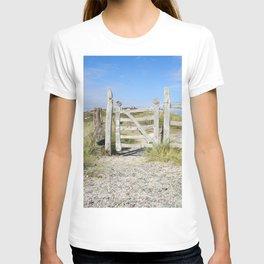 Llanddwyn gate portrait T-shirt