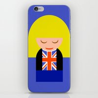 tyler spangler iPhone & iPod Skins featuring Rose Tyler by Kellyanne
