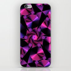 Abstract 344 a berry and black kaleidoscope iPhone & iPod Skin