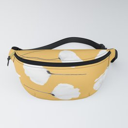 Poppies on mustard Fanny Pack