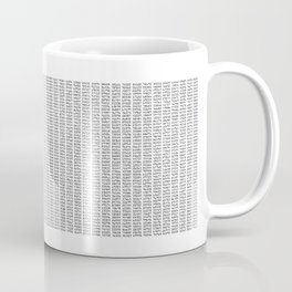 The Number Pi to 10000 digits Coffee Mug