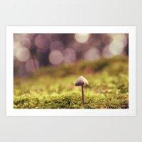 mushroom Art Prints featuring mushroom by anitaa