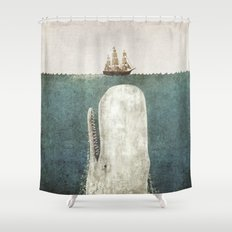 The Whale - vintage option Shower Curtain