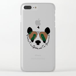 Hello awesome panda Clear iPhone Case