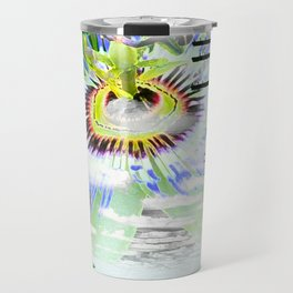 High Voltage on passionflower Travel Mug