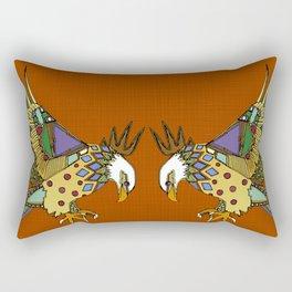 jewel eagle rust Rectangular Pillow