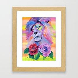Proud Lion Framed Art Print