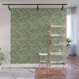 Kaleidoscope in Green Wall Mural