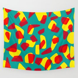 happy shapes Wall Tapestry