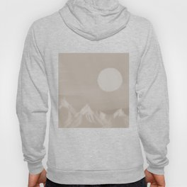 Rising Moon Above The Mountains (Black&White) Hoody