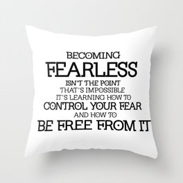 BECOMING FEARLESS - Divergent Throw Pillow