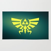 triforce Area & Throw Rugs featuring Zelda Triforce by WaXaVeJu