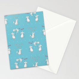 Love story with cute mouses Stationery Cards