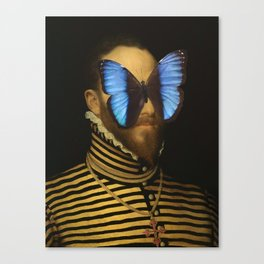 Knight with a butterfly Canvas Print