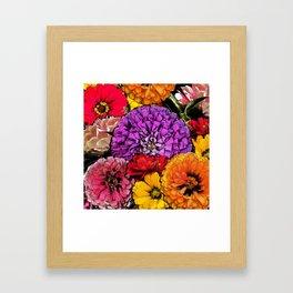 Power Flowers Framed Art Print