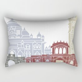 Ahmedabad skyline poster Rectangular Pillow