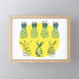 Pineapples group Framed Mini Art Print