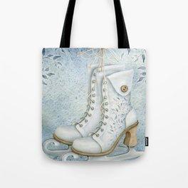 Christmas vintage ice skating #1 Tote Bag