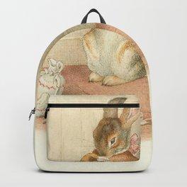 Cute Bunny drinking tea Backpack
