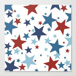 Stars - Red, White and Blue Canvas Print