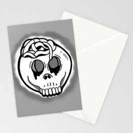 Worm Food (grey ghosted) Stationery Cards