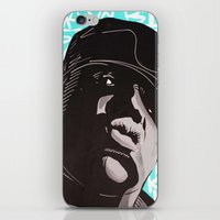 biggie smalls iPhone & iPod Skins featuring Biggie Smalls by Art By Ariel Cruz