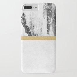 Golden Line / White iPhone Case