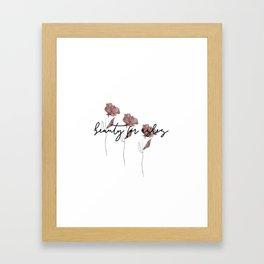 Beauty For Ashes Framed Art Print