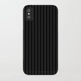 Black White Pinstripes Minimalist iPhone Case