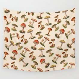 Magical Mushrooms Wall Tapestry