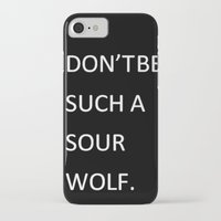 teen wolf iPhone & iPod Cases featuring Sour Wolf - Teen Wolf by Thingamebob
