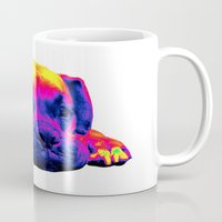 boxer Mugs featuring Boxer by Ty McKie Creations